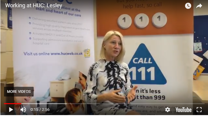 Dr Lesley Kilkenny explains why she enjoys working for HUC and NHS111.
