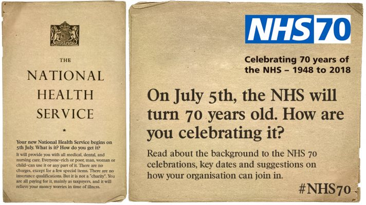 Staff from HUC to attend special event to celebrate landmark 70th birthday of the NHS