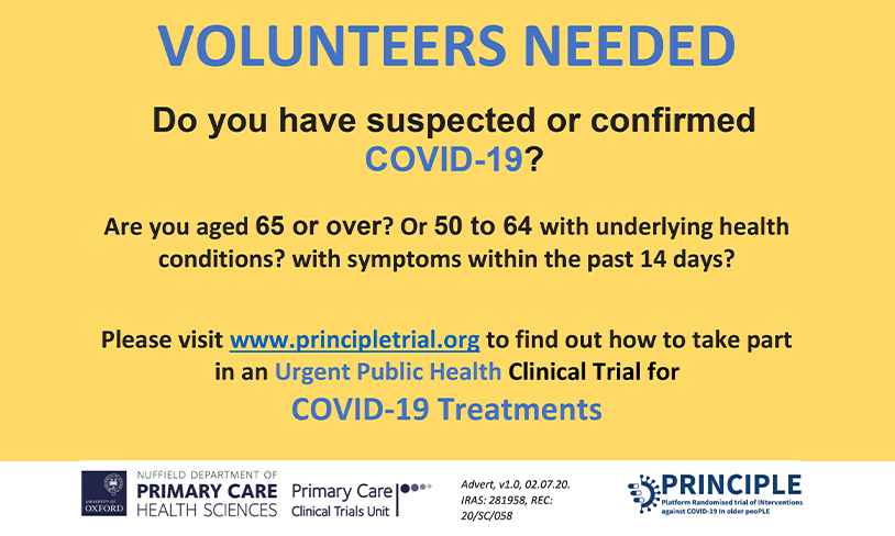 Do you have suspected or confirmed COVID-19?